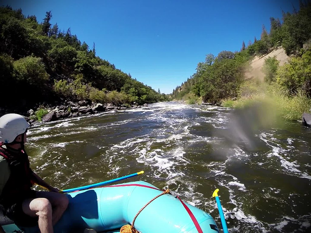 Rafting the Klamath river from BLM