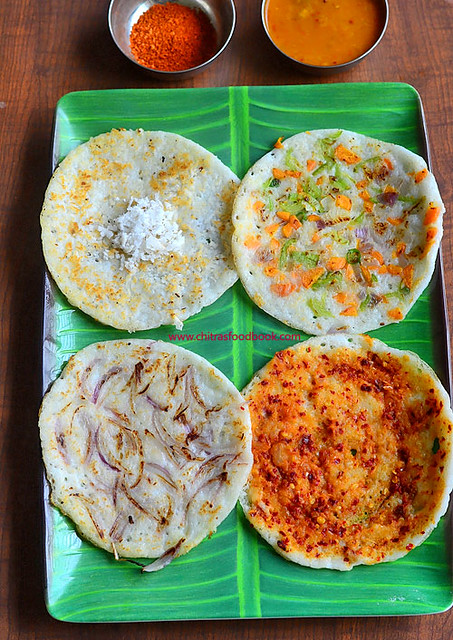 Different types of dosa