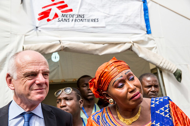 Dr. David Nabarro, Special Envoy on Ebola, and Dr. Hadja Fatou Sikhe Camara, Director of the Donka National Hospital in Conakry, Guinea Africa.