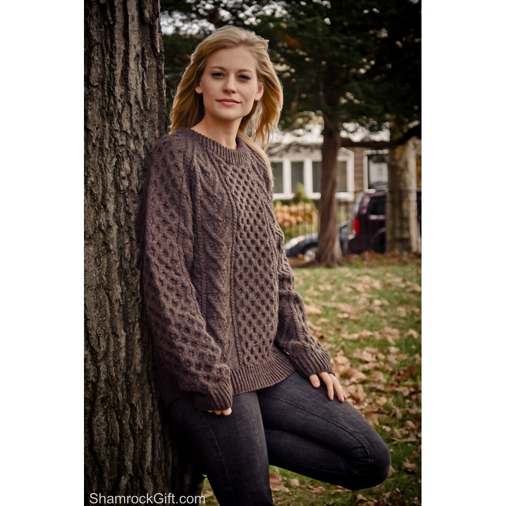 Knitting Jobs Ireland : Authentic hand knit irish aran sweater natural spun