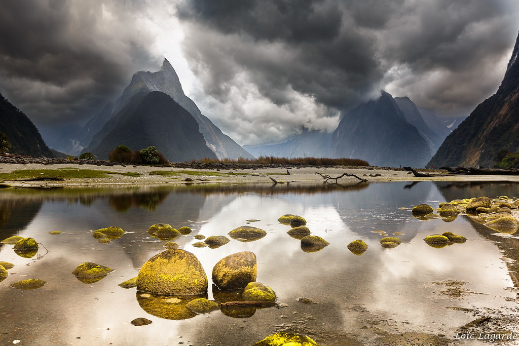 Cloudy evening on milford sound my website my flickr for Landscaping companies in new zealand