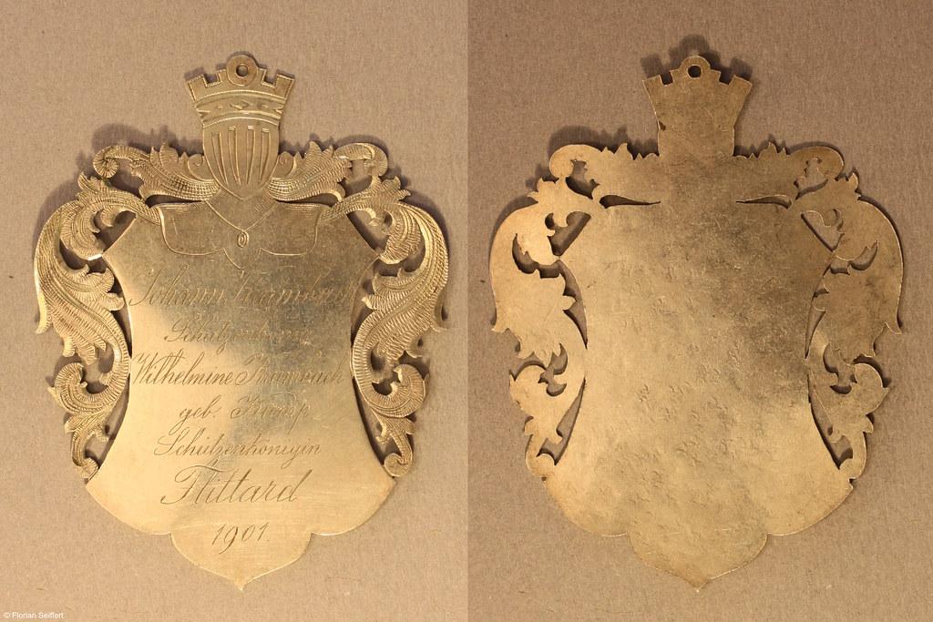 Koenigsschild Flittard von krumbach johann aus dem Jahr 1901