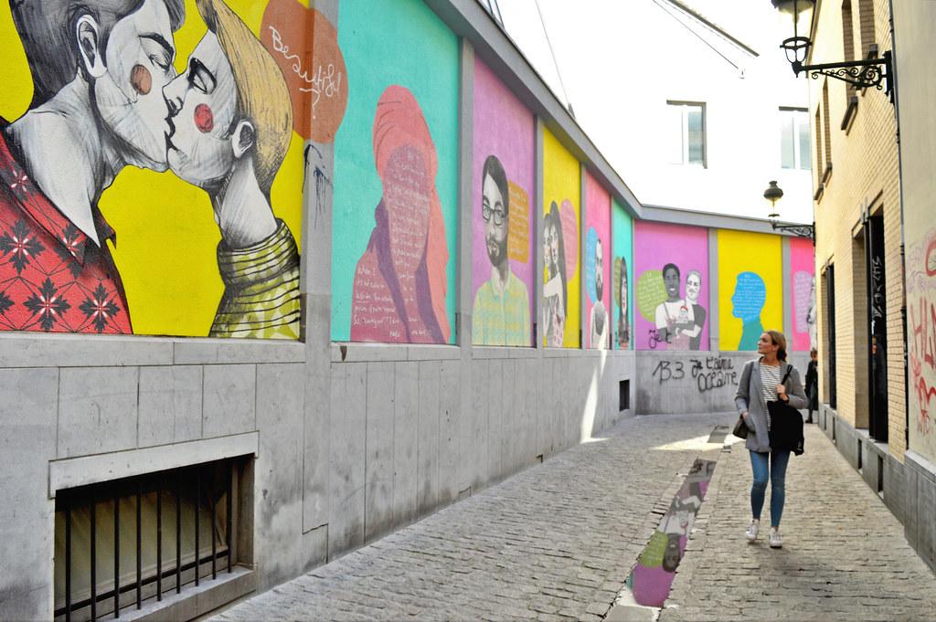 LGBTQ street art in Brussels