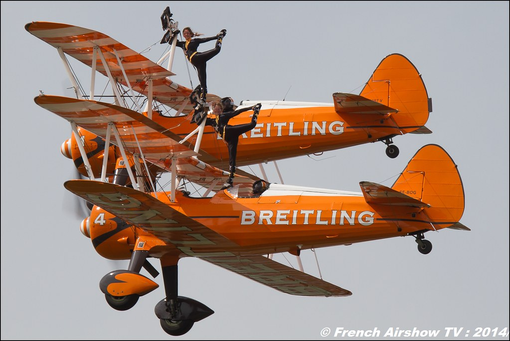 Breitling Wingwalkers , RIAT , Royal International Air Tattoo 2014 , Meeting Aerien 2014