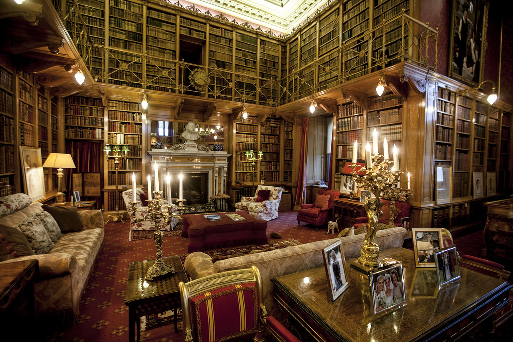 Library Alnwick Castle State Rooms Of