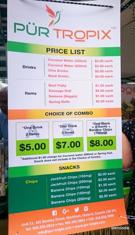 Pur Tropix prices