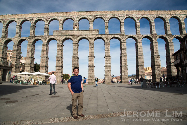 The amazingly well preserved 2000 year old Roman aqueduct in Segovia.