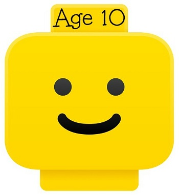 LEGO smiley head for age 10