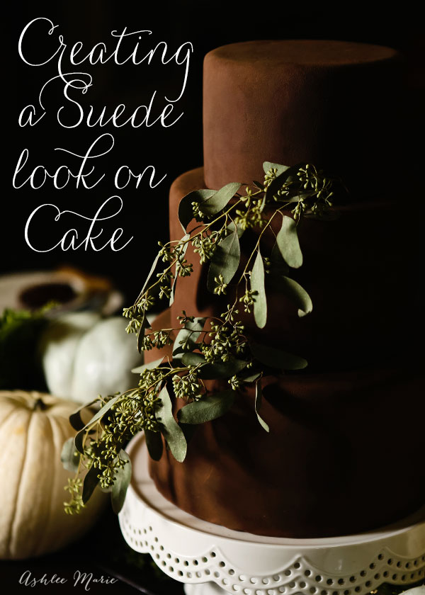creating a suede look on a fondant cake