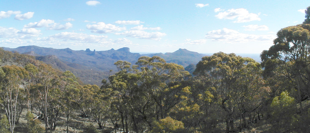 Panorama Of Warrumbungles From Siding Springs Observatory