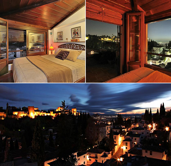 Solar Montesclaros y sus preciosas habitaciones con vistas a la Alhambra
