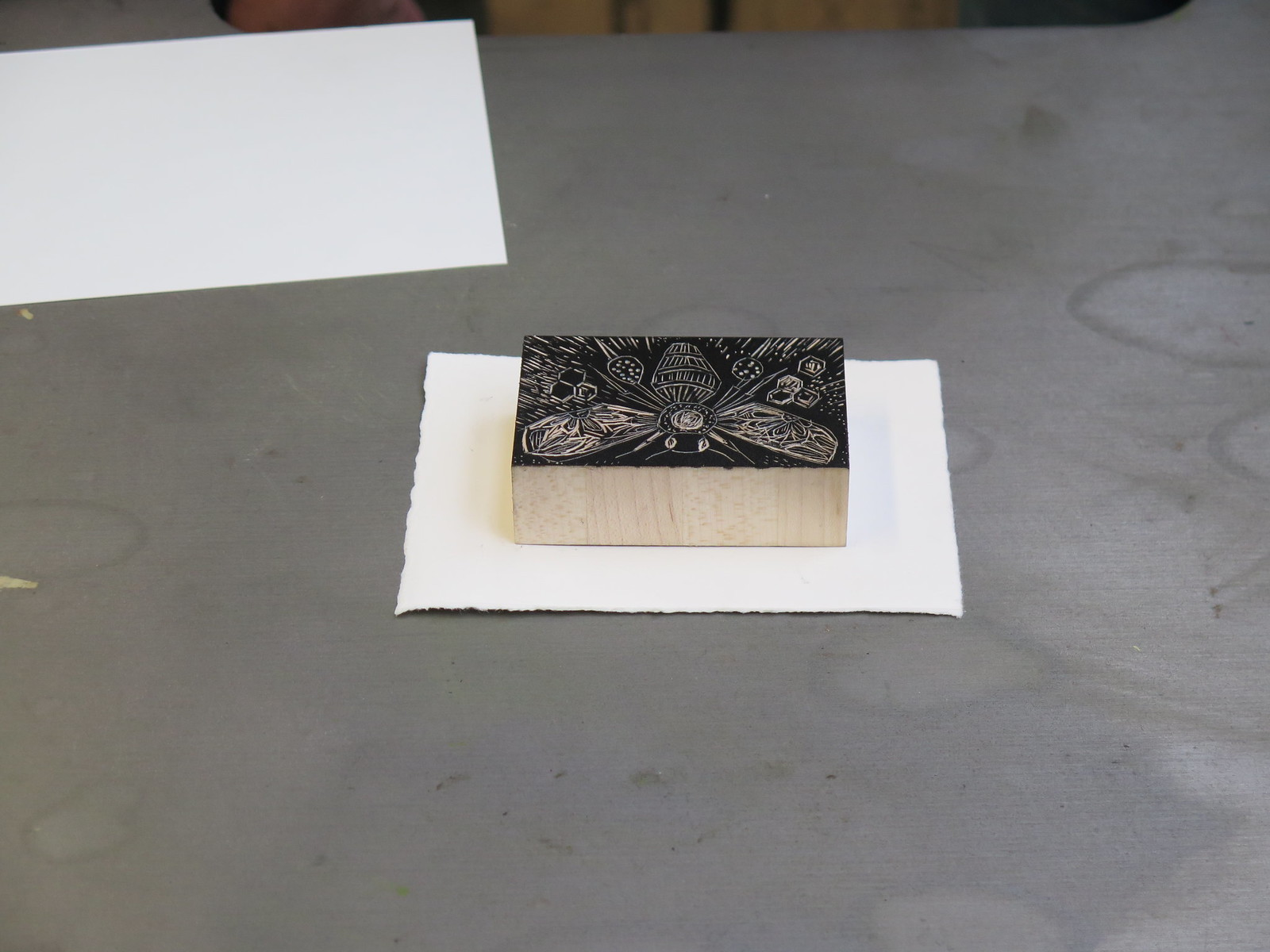 Wood engraving Wood block
