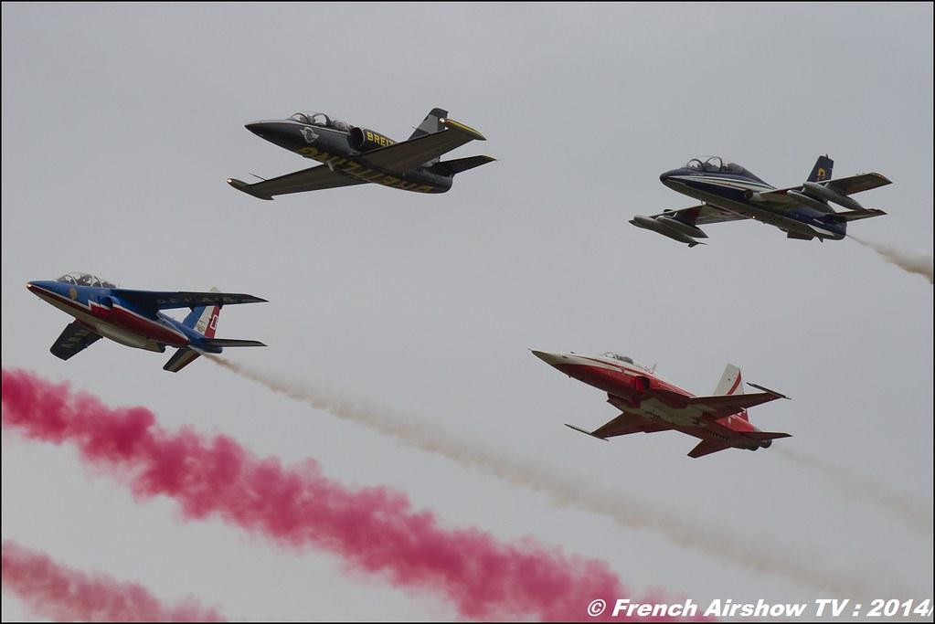 Patrouille de France , Patrouille Suisse , Breitling Jet Team , Frecce Tricolori , RIAT 2014 , Fairford , Royal International Air Tattoo 2014 , Meeting Aerien Air Tattoo , Meeting Aerien 2014