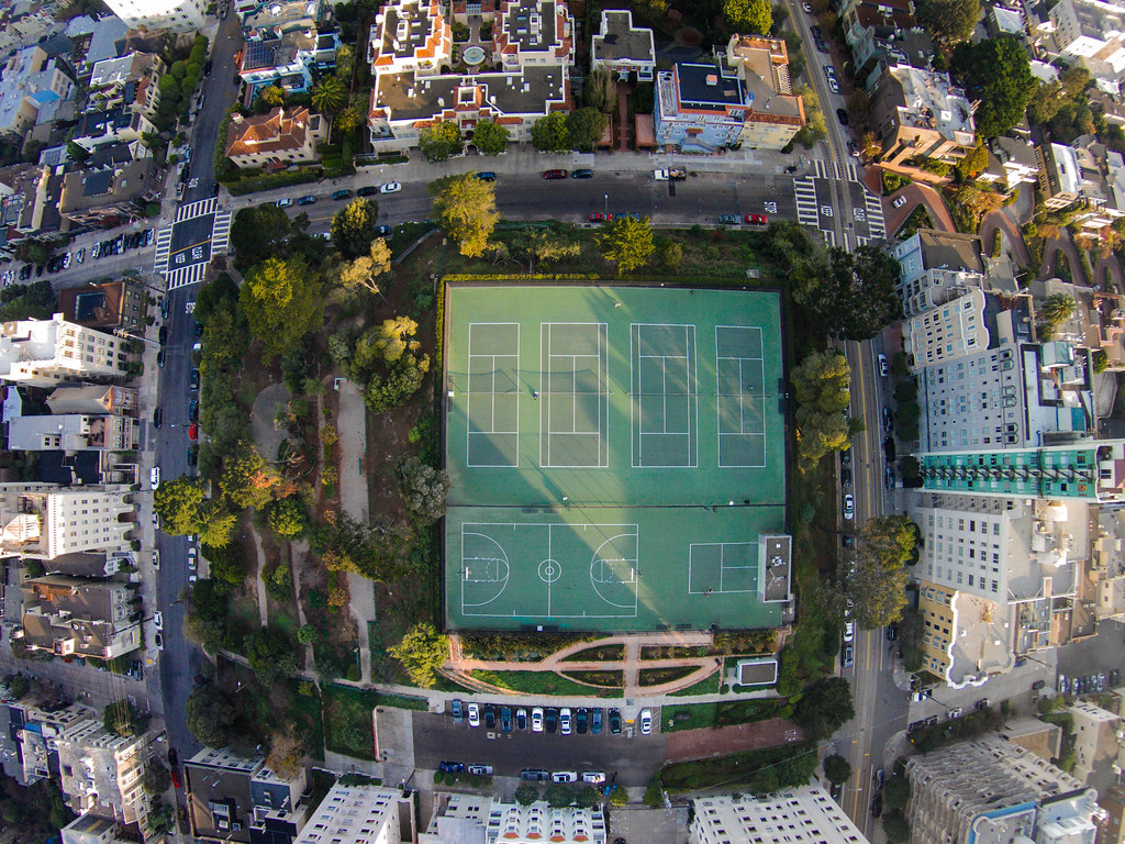 Alice Marble Tennis courts at George Sterling Park Russia…