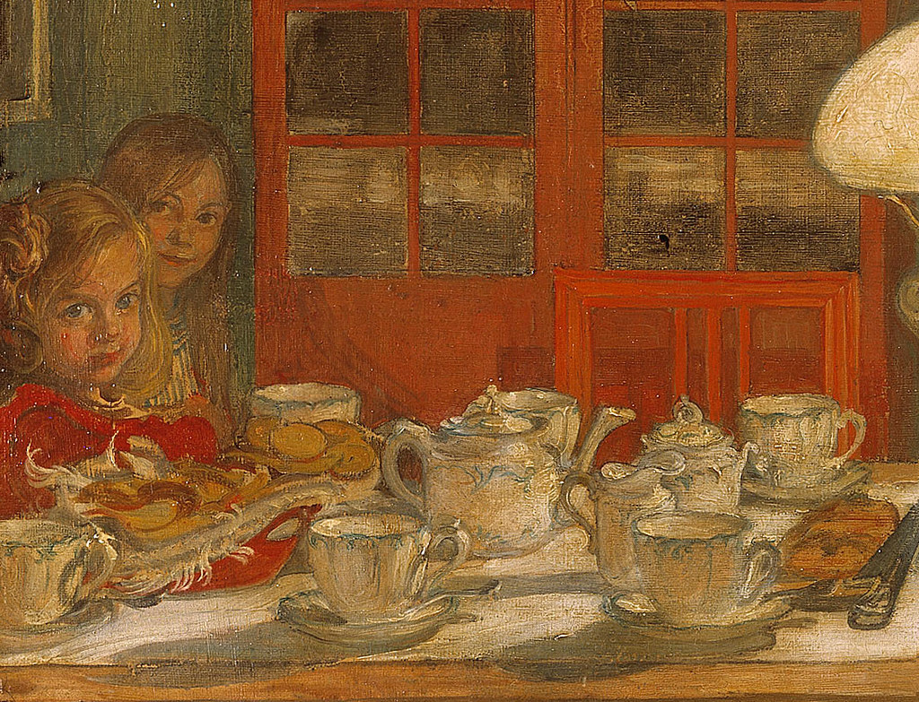 Carl Larsson 'Getting Ready for a Game' 1901 (detail) | Flickr