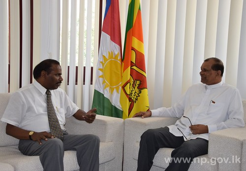 Indian Consul General, Jaffna calls on Governor – 20 January 2015