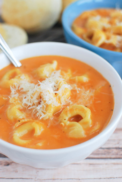 Creamy Tomato and Tortellini Soup
