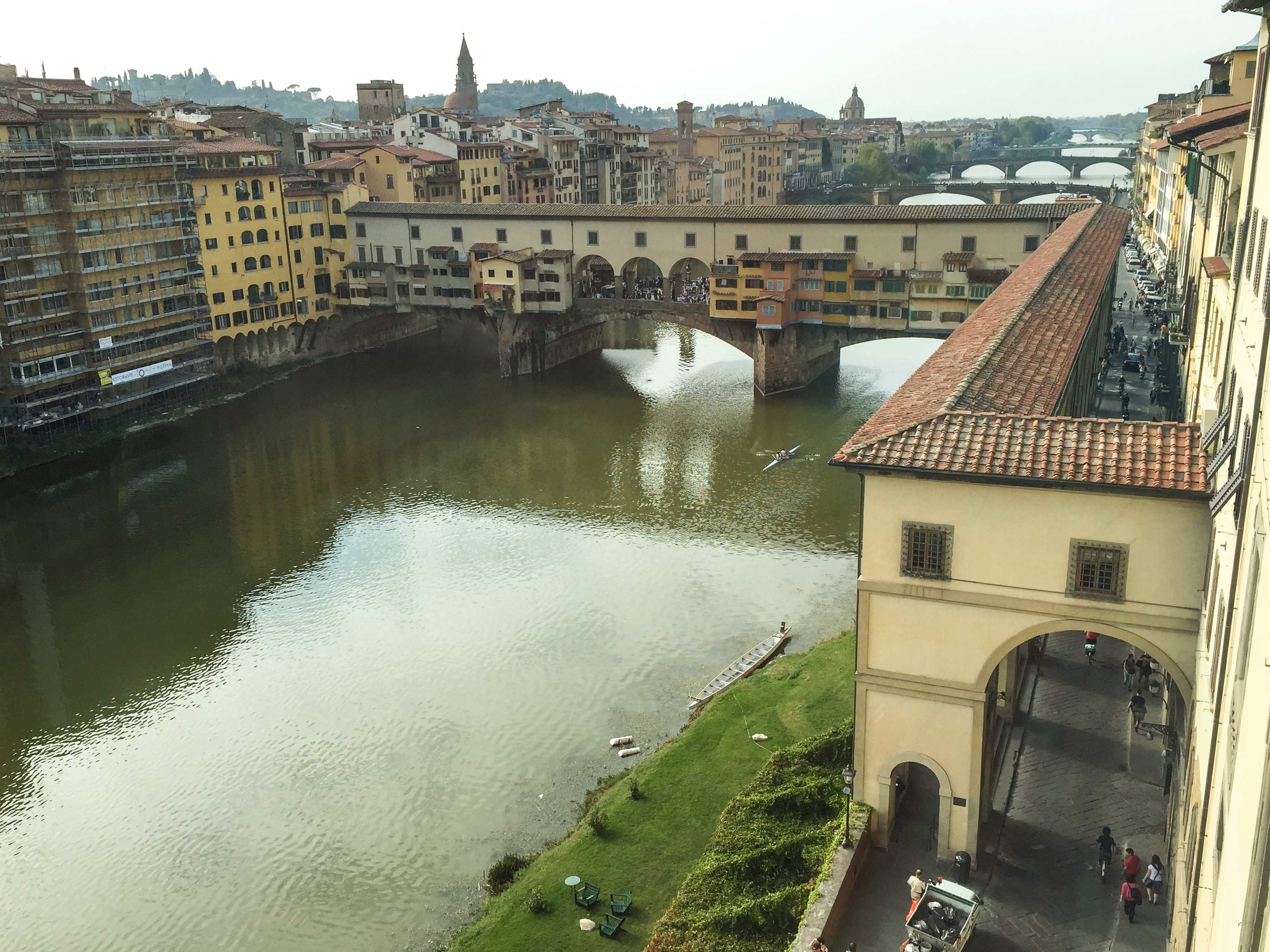 view out over Ponte Vecchio