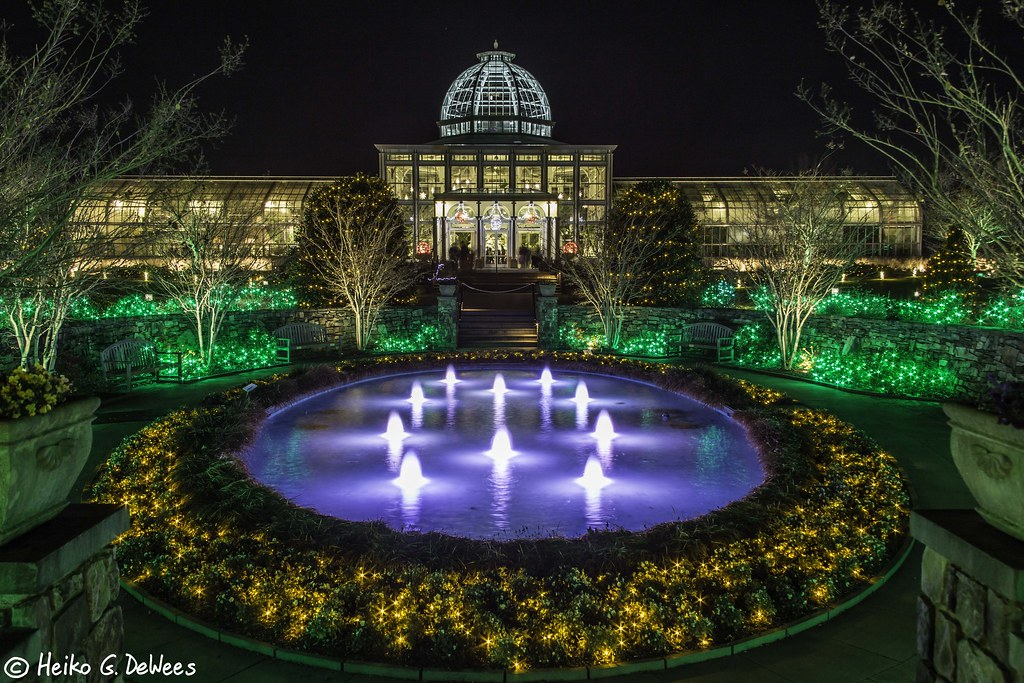 Lewis ginter holiday lights 2014 conservatory at lewis gin flickr for Lewis ginter botanical gardens christmas