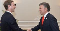 Juan Manuel Santos y Mark Zuckeberg