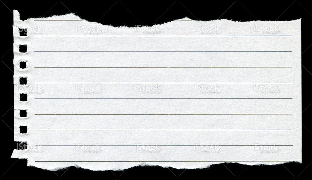 Torn Notebook Page Background Texture (XXXL)