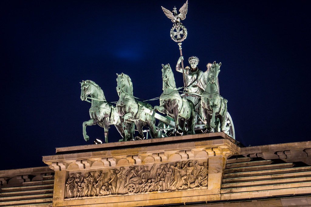 Brandenburg Gate Quadriga Quadriga on The Brandenburg