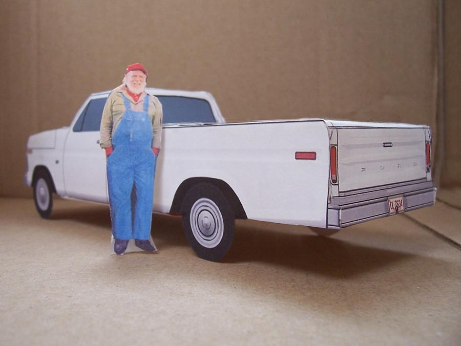 Uncle Jesse Dukes of Hazzard Truck Papercraft Uncle Jesse Duke
