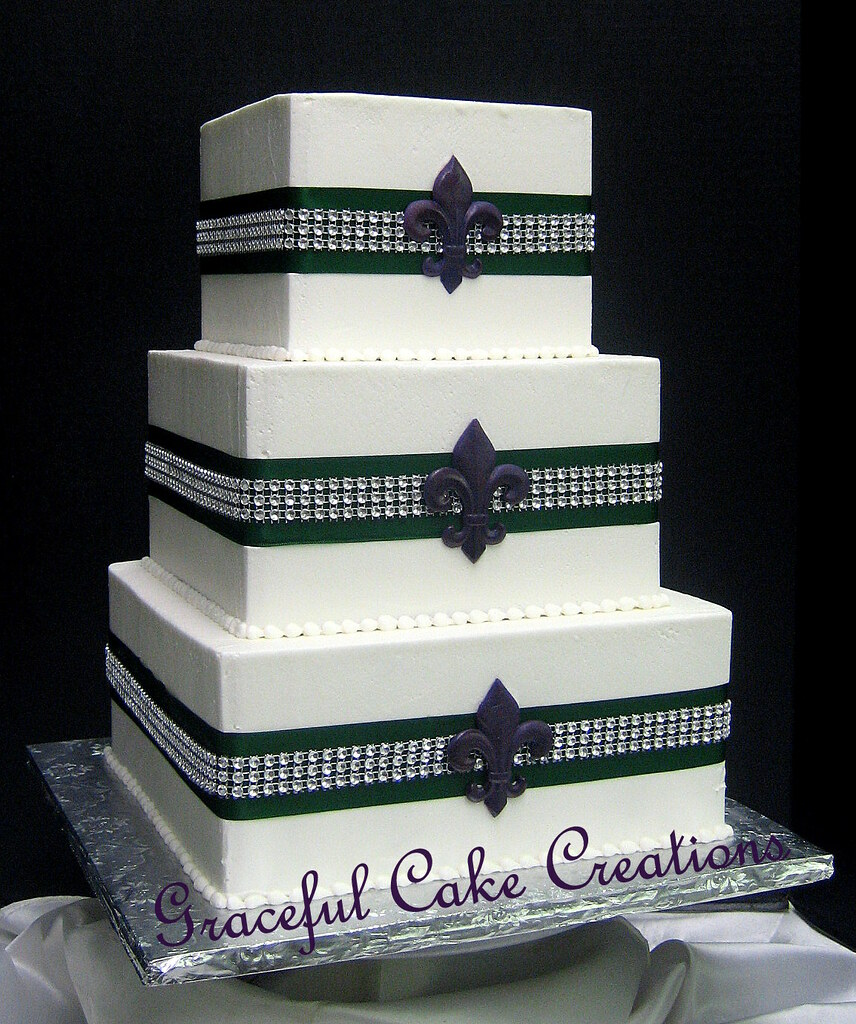 The Wallpaper Purple Wedding Cakes