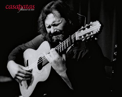 Camarón de Pitita a la guitarra en nuestro tablao. Foto: Martín Guerrero