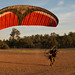 Tyler Forward Launching Powered Paraglider