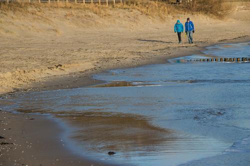Walking on a sunny Beach