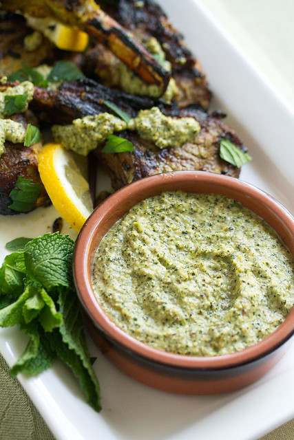 Mint Pesto for Lamb Lollipops