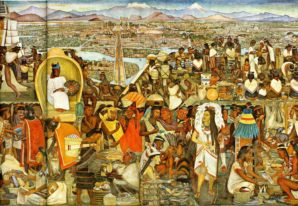 Diego rivera la gran ciudad de tenochtitlan 1945 flickr for Diego rivera tenochtitlan mural