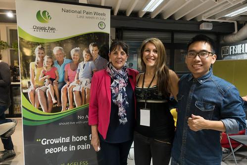 Dr Coralie Wales, Anne-Marie Elias, and Thai Huynh.  © Jack Skinner
