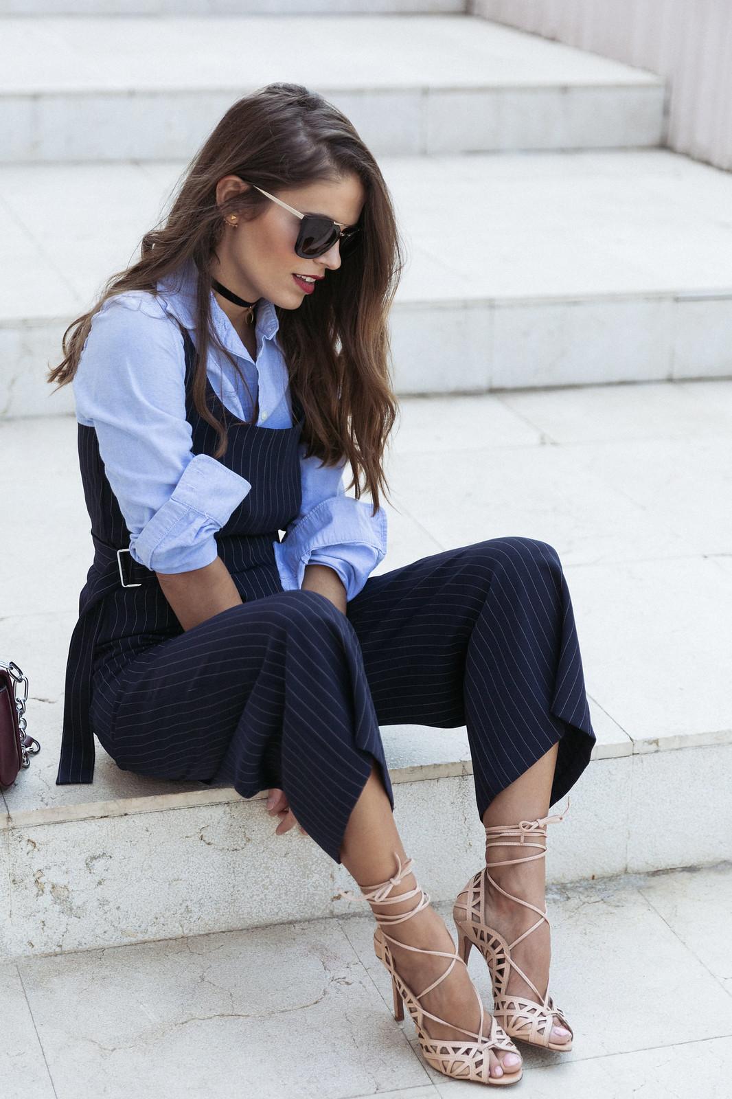 Jessie Chanes Seams for a desire - Pinstripped suit topshop heeled sandals schutz parfois bag  -6