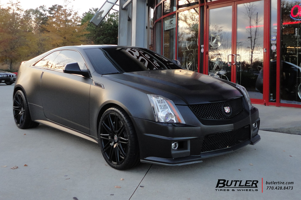 Cadillac Ats Rims >> Matte Black Cadillac CTS-V Coupe with 20in XO Milan Wheels… | Flickr