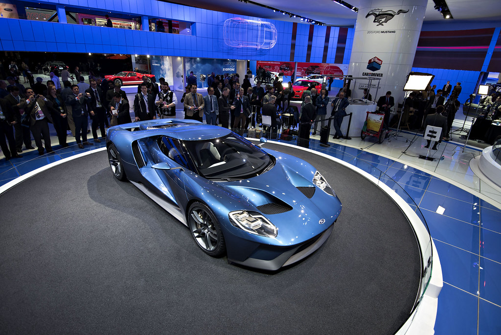 Ford Gt Supercar The Ford Motor Co Gt Vehicle Is Displaye Flickr