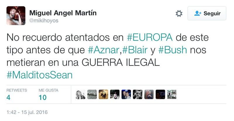 Resultado de imagen de Aznar criminal de guerra