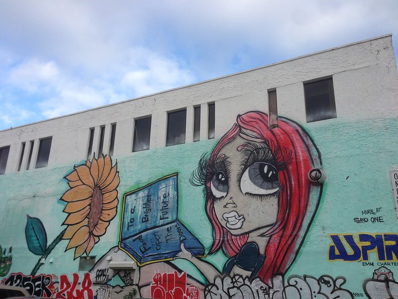 Read open the doors to a brighter future - Wynwood, Miami