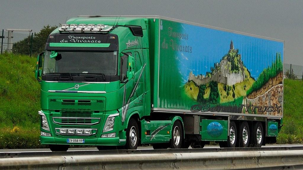 F Transports Du Vivarais Volvo Fh Gl04 Bonsaitruck