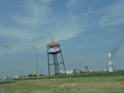 leaning watertower on route 66 in texas