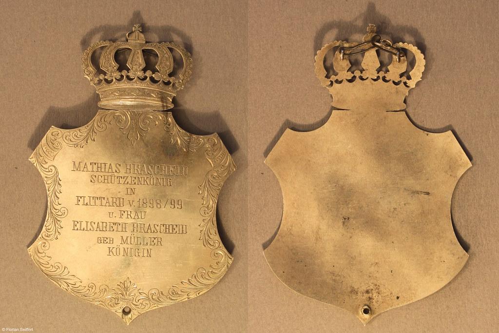 Koenigsschild Flittard von brascheid mathias aus dem Jahr 1898