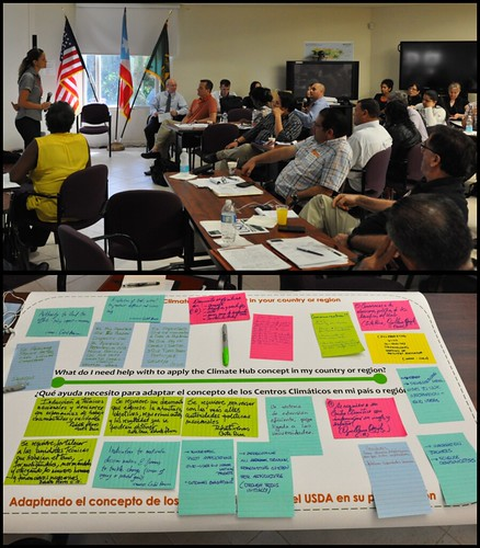 A two-day workshop with USDA representatives from the National Climate Hubs Network and the Foreign Agricultural Service to strengthen collaboration to address climate change