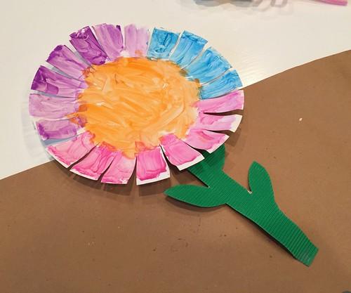 Flower paper plates castrophotos four fun flower crafts andrea dekker mightylinksfo