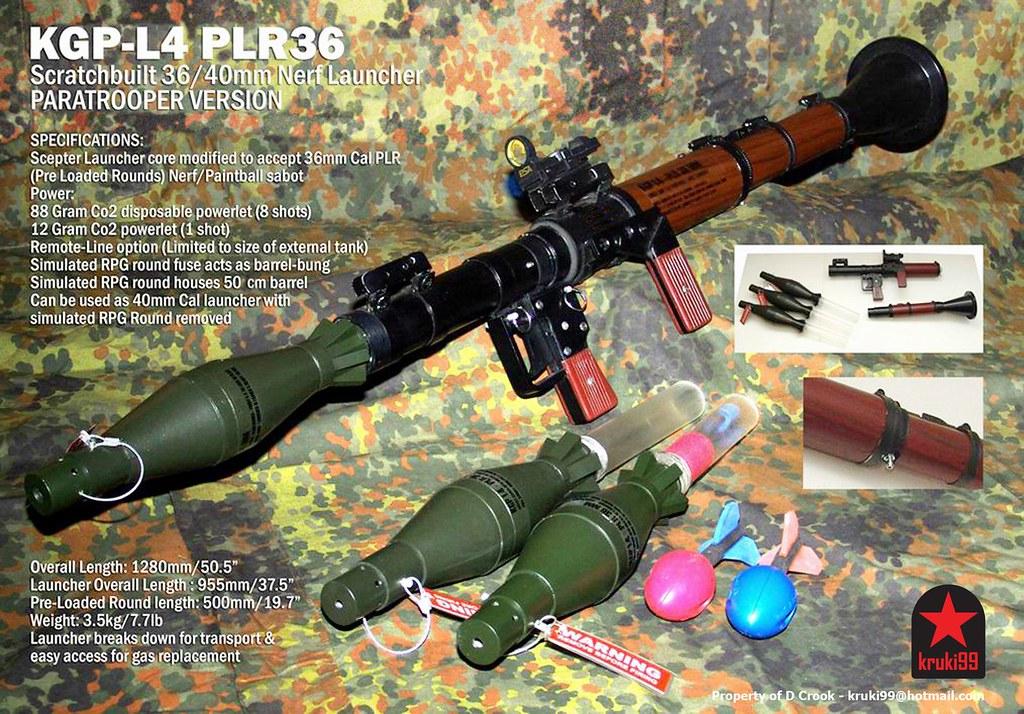 Scratchbuilt replica RPG-7 rocket launcher (NERF & Paintba ...Rpg Paintball Gun