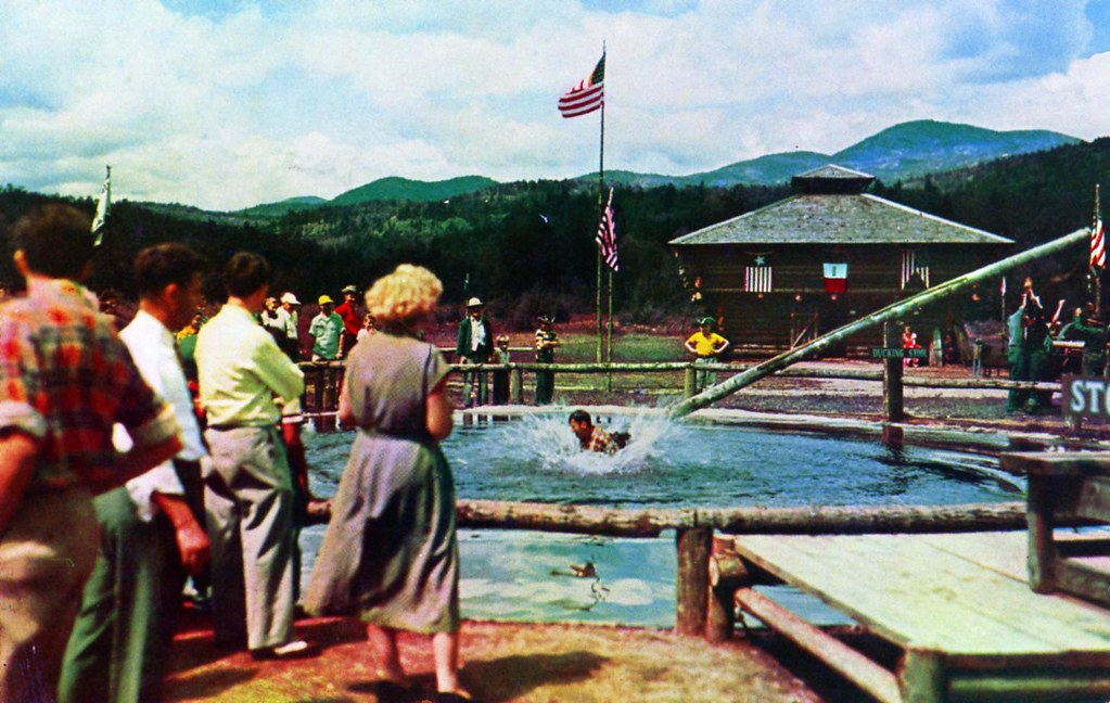 frontier town dunking stool schroon lake ny
