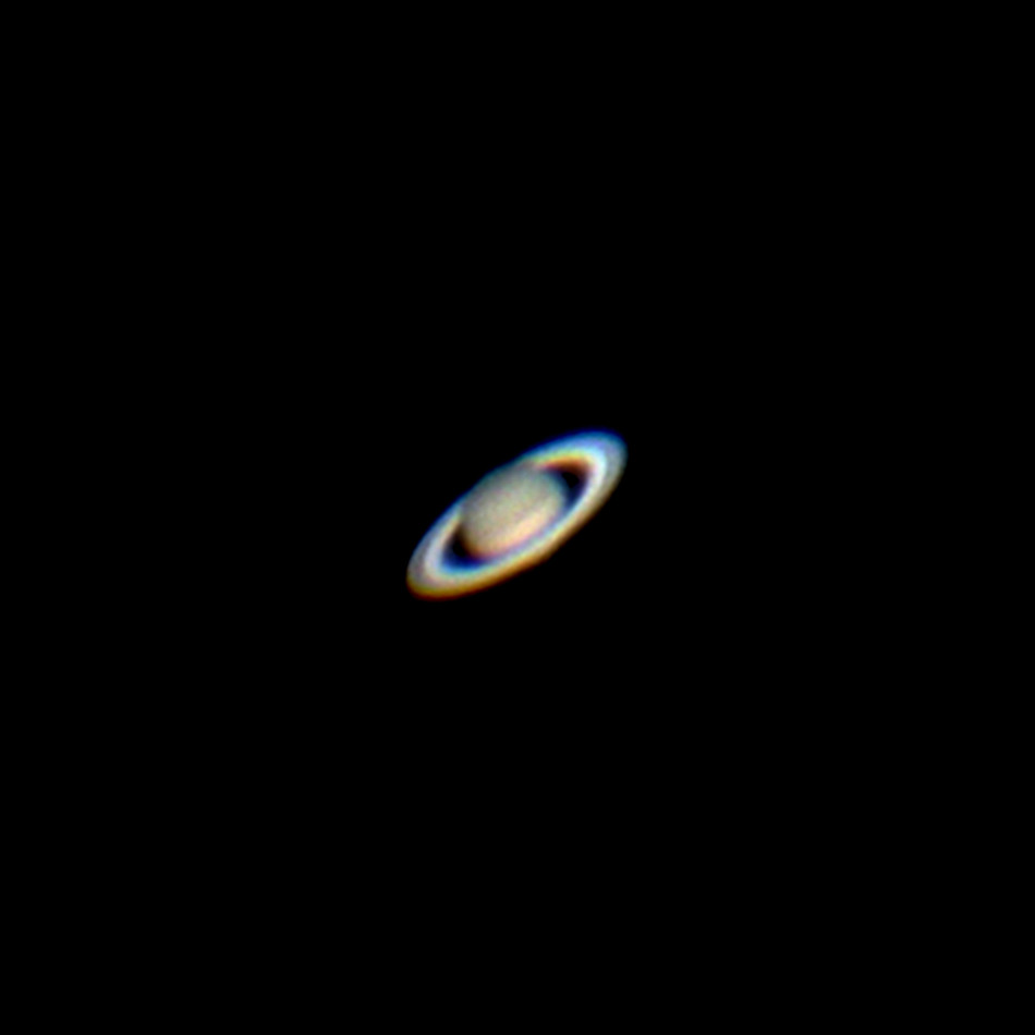 "Saturn with iPhone through 8"" telescope, May, 2014 
