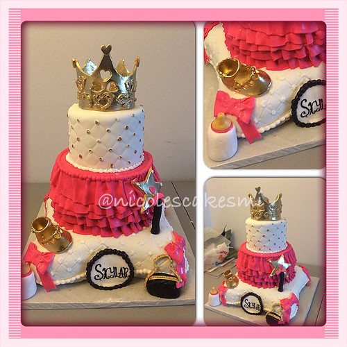 Royal Princess Baby Shower Cake All Fondant 100 Edible. Pink ...