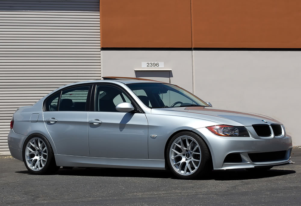 Bmw E90 335i With Race Silver Ec 7 Wheels E90 335i With