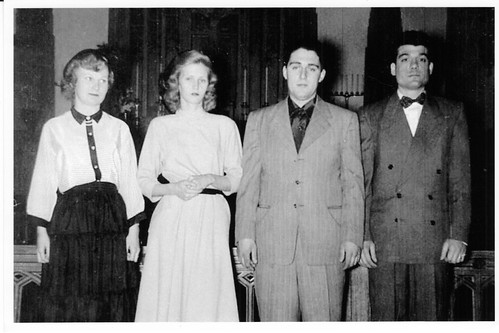 My parents (center) have their marriage blessed at St. Ferdinand's church